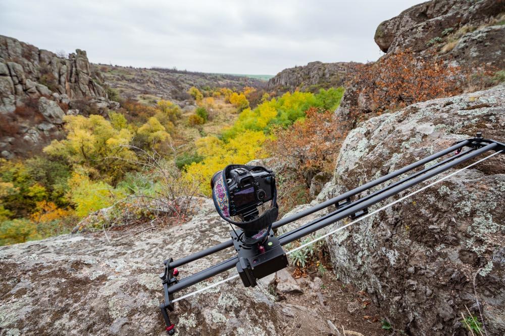 Utiliser un slider camera en extérieur