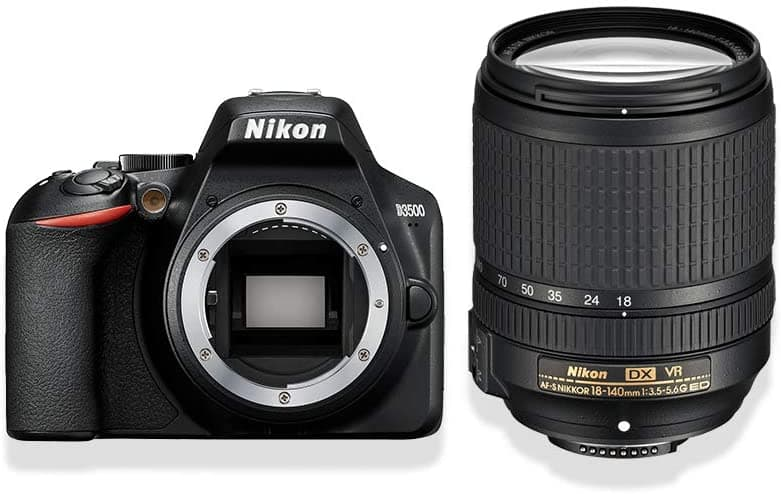 Appareil photo reflex Nikon D3500 pour de la photo produit