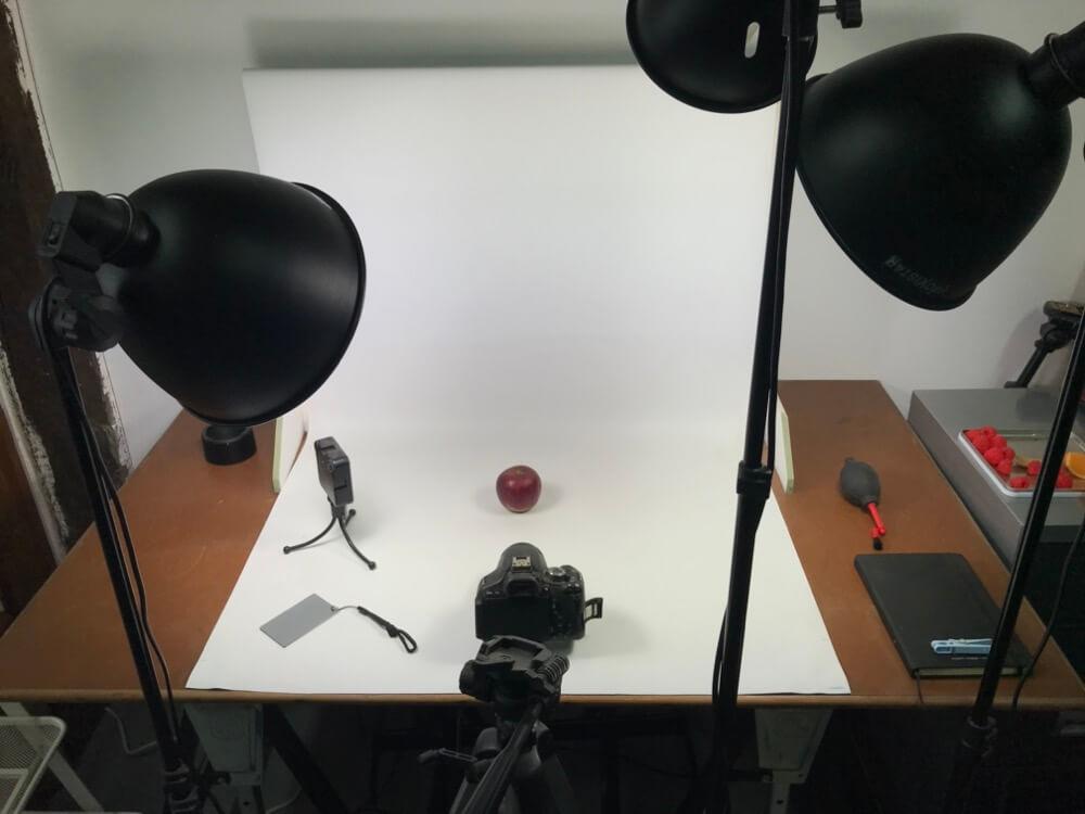 Studio photo prêt pour du packshot